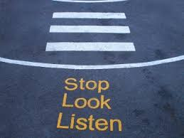 stop look listen crossing